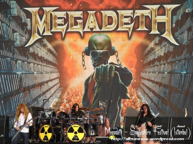 اجرای گروه Megadeth در فستیوال Sonisphere استانبول